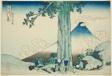 "Mishima Pass in Kai Province (Koshu Mishimagoe), from the series ""Thirty-six Views of Mount Fuji (Fugaku sanjurokkei)"""