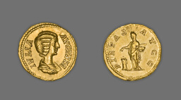 Aureus (Coin) Portraying Empress Julia Domna