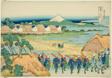 """Mount Fuji Seen from the Senju Pleasure Quarter (Senju kagai yori chobo no Fuji), from the series """"Thirty-six Views of Mount Fuji (Fugaku sanjurokkei)"""""""