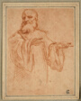 St. Benedict Gesturing to the Left: Study for the Coronation of the Virgin