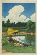 "A Water Conduit, A Scene in Sado (Mizuagehi [Sado shoken]), from the series ""Souvenirs of Travel, Second Series (Tabi miyage dai nishu)"""
