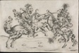Combat of Two Wild Men on Horseback