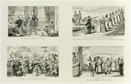 """My Wife is a Woman of Mind"" from George Cruikshank's Steel Etchings to The Comic Almanacks: 1835-1853 (top left)"