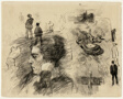 Sheet of Sketches: Head in Profile and Other Figures (recto); Sheet of Sketches: Figures and Horses (verso)