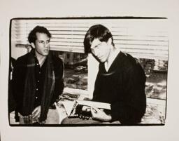 Tom Cashin and Unidentified Man
