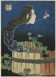 """The Mansion of the Plates (Sara yashiki), from the series """"One Hundred Ghost Tales (Hyaku monogatari)"""""""