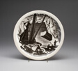 """""""Marble Quarrying"""" plate, """"New England Industries"""" series"""