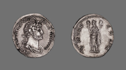 Denarius (Coin) Portraying Emperor Hadrian