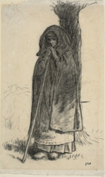 Shepherdess Leaning Against a Tree