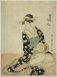 The Courtesan Matsukaze of the Matsubaya, from an untitled series of courtesans of the Matsubaya as five musicians