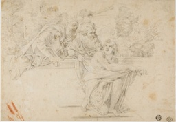 Susanna and the Elders (recto); Profile Head of Woman (verso)