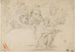 Susanna and the Elders (recto); Profile Head of Woman (verso)