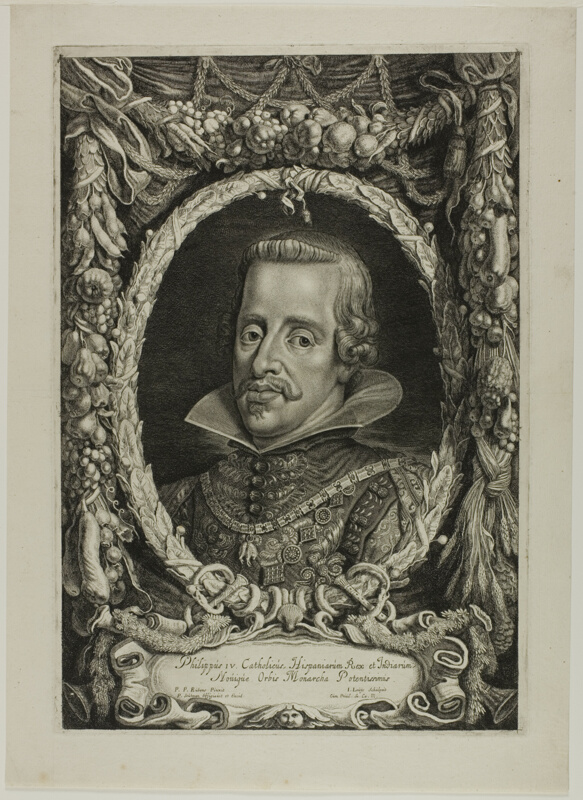 Philip Black King Bedroom Set: Philip IV, King Of Spain, Plate 12 From Duces Burgundiae