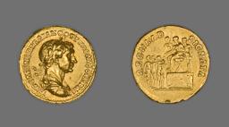 Aureus (Coin) Portraying Emperor Trajan