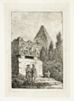 Landscape with Pyramid and Sarcophagus, plate six from Les Soirées de Rome