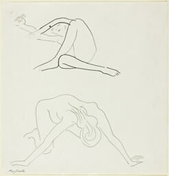 Two Nude Figures in Motion
