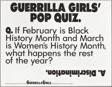 Guerrilla Girls' Pop Quiz
