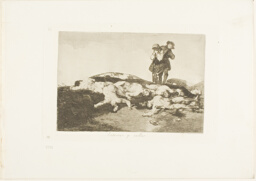 Bury them and keep quiet, plate 18 from The Disasters of War