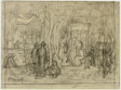 Compositional study for The Sacred Grove, Beloved of the Arts and the Muses