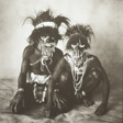 Two New Guinea Men, One Blind, New Guinea
