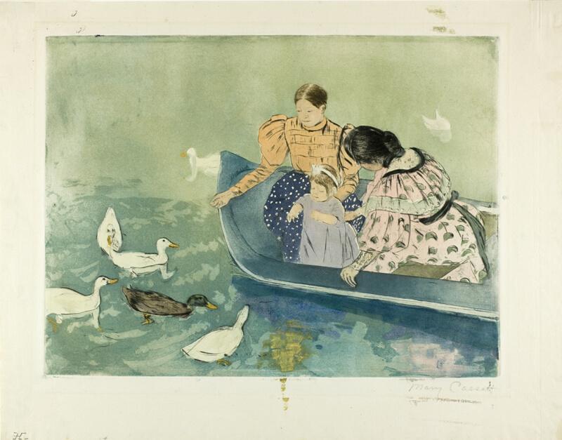 Vid. wife feeding the ducks POV