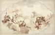Design for a Ceiling: Apotheosis of Callisto (recto), and Sketch of Figures (verso)
