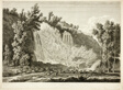 Waterfall Above Tivoli, from Malerisch radirte Prospecte aus Italien