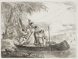 The Holy Family Entering the Boat with the Help of the Angels, plate sixteen from The Flight into Egypt