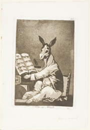 And So Was His Grandfather, plate 39 from Los Caprichos