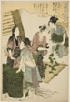 """No. 5 (go), from the series """"Women Engaged in the Sericulture Industry (Joshoku kaiko tewaza-gusa)"""""""