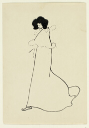 Standing Woman in Flowing Cape