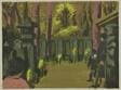 "Cemetary at Sengakuji (Sengakuji bosho), from the series ""Recollections of Tokyo (Tokyo kaiko zue)"""