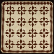 """Bedcover (""""Star and Crescent"""" Quilt)"""
