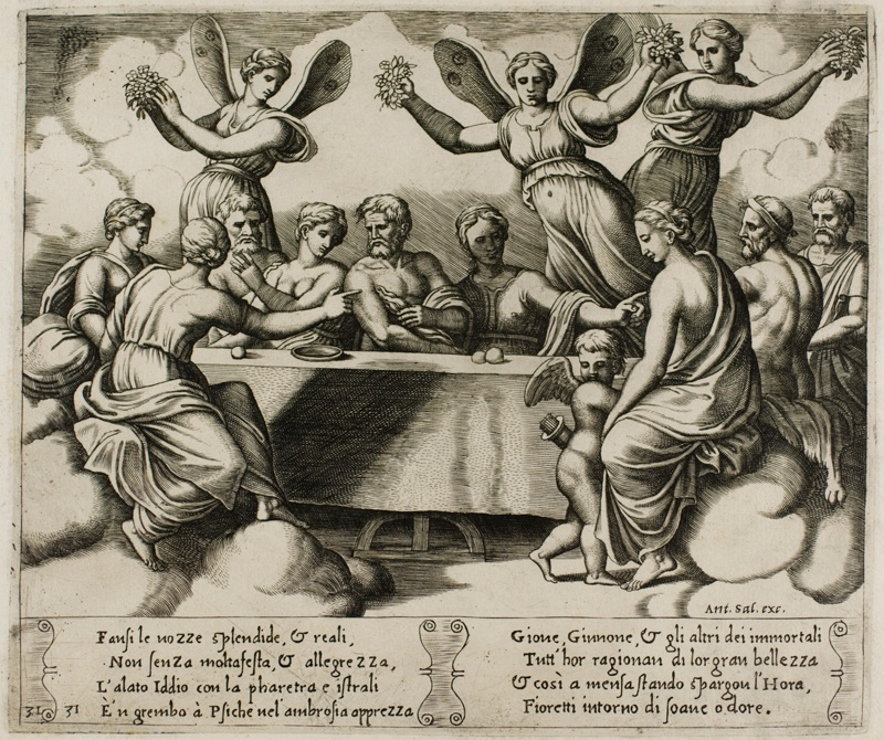 The S Celebrating Wedding Of Psyche And Cupid