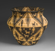 Basketry Olla Depicting Humans, Dogs, Horses, and Saguaro Cacti