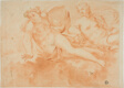 Two Cloud-Borne Nude Female Figures (recto); Fragment of Reclining Figure (verso)