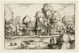 A Pond, plate eighteen after Pictures of Farms, Country Houses and Rustic Villages (Praediorum villarum et rusticarum casularum icones)