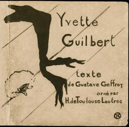 Cover for Yvette Guilbert