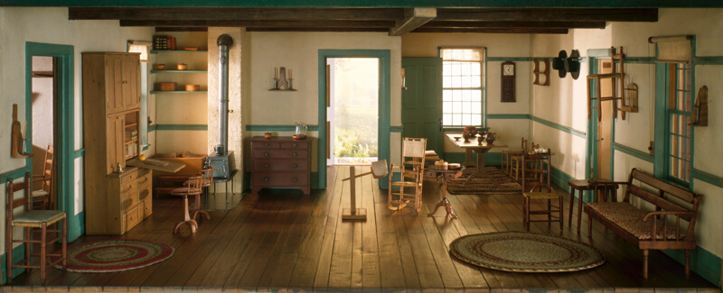 Rooms: A18: Shaker Living Room, C. 1800