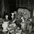Max Ernst in His Sculpture Garage, Great River, Long Island
