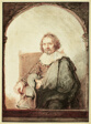Portrait of a Man in an Arm Chair, from Collection d'imitations de Dessins d'après les Principaux Maîtres Hollandais et Flamands