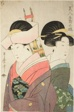 "Beauty and Attendant on New Year's Day, from the series ""Pleasures for Beauties on the Five Festival Days"" (""Bijin gosetsu no asobi"")"