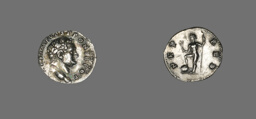 Denarius (Coin) Portraying Emperor Titus