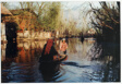 Mother and Daughter Rowing to Their Island Home, Dal Lake