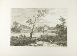 View of a Town on a River Bank, from Vedute