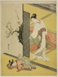 A Courtesan Catching Her Attendant Sleeping