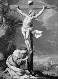 Christ on the Cross with Mary Magdalene