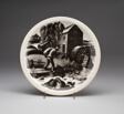 """Grist Mill"" plate, ""New England Industries"" series"