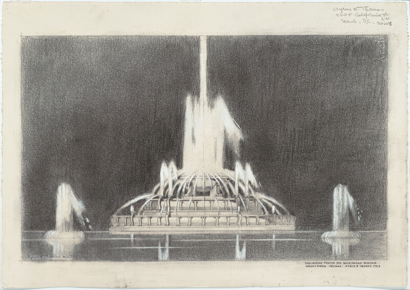 20Th Century Architects buckingham fountain: preliminary sketch | the art institute of chicago