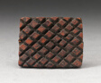 Checkerboard-Shaped Stamp for Adinkra Textile